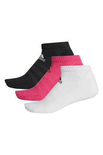 adidas Calcetines de corte bajo, 3 unidades magenta/negro/blanco M