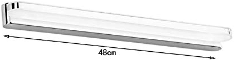 Hai Ying    Spiegelleuchte led Badezimmer Badezimmer modern und einfach spiegelleuchte Edelstahl wasserdicht Nebel Make-up Lichter warmes licht 38   118cm lang (Gre  lang48cm)