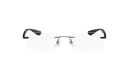 (レイバン) Ray Ban メガネフレーム マットグレー×ブラック ツーポイント型 縁なし 眼鏡 めがね 0RX-8724-1128 [並行輸入品]