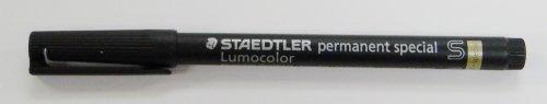 Lumocolor Marker Permanent Super Fine 0.4mm Special for Optical Glass Etc., Black 319S-9