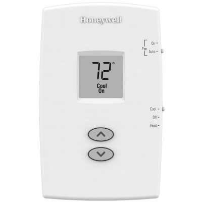Honeywell PRO 1000 Single Stage Heat/Cool Vertical Non-Programmable Thermostats - Black and White - TH1110DV1009/U TH1110DV-1