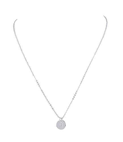 SIX Damen Halskette, Gliederkette, Silver Coated, Anhänger, Kreis, M, Silber (779-955)