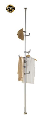 PRINCE HANGER | One-touch Coat Rack, Silver, Steel
