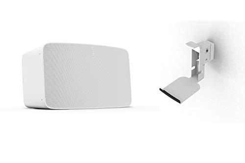 Sonos Five WLAN Speaker, weiß – Leistungsstarker WLAN Lautsprecher für Musikstreaming mit bestem, kristallklarem Stereo HiFi Sound – AirPlay kompatibler Multiroom Lautsprecher - inkl. Wandhalterung