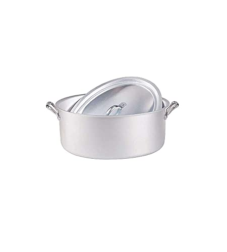 Pentole Agnelli Casseruola Ovale, Alluminio, Argento, 30 Cm