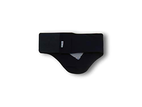 Cinturón Cubre Bolsa Ostomía Art. GLICO-CS Negro Cintura 4º 91-110 cm. Alto 25 cm. (cod.B)