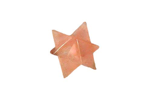 Rose Quartz Merkaba 1 inch Star Jet International Healing Spiritual Divine India A++ Crystal Therapy Geometry Positive Peace Pocket Internal Strength Love Doctor Actor Star Future Luck Sacred Geometry