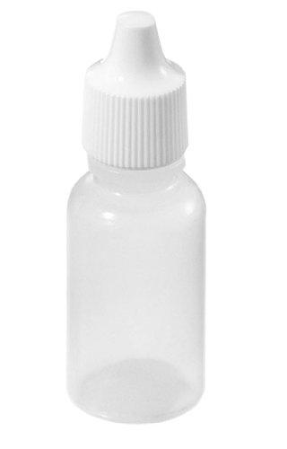 Vktech 50pcs 15ml Empty Plastic Squeezable Dropper Bottles Eye Liquid Dropper LDPE