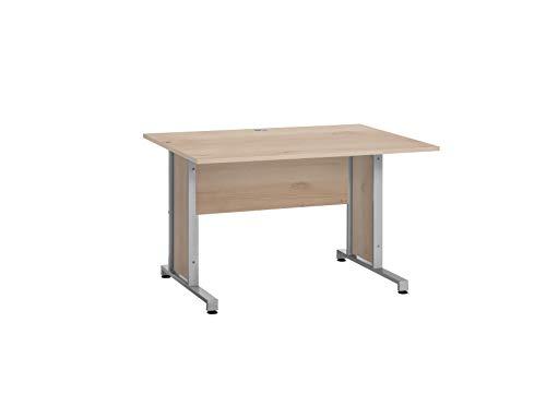 MAJA Möbel System Sets Schreibtisch, Holzwerkstoff melaminharzbeschichtet, Edelbuche, B/H/T: ca. 120x67x80 cm