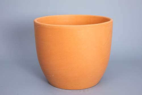 Verano Spanish Ceramics Outdoor Living Plain Terracotta Garden Yard Frost Resistant Flower Pot Planters - Set of 2 - 28cm x 24cm