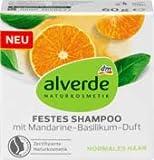 alverde NATURKOSMETIK festes Shampoo mit Mandarine-Basilikum