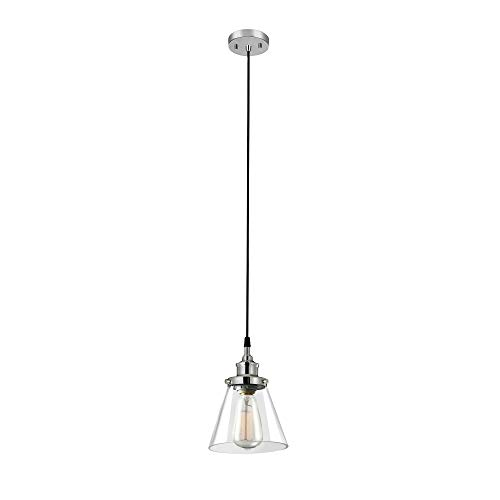 Globe Electric Parker 1 Plug-in or Hardwire Chrome Pendant...