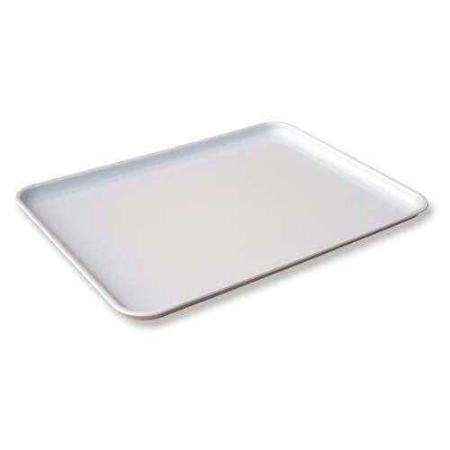 Congost Bandeja Rectangular de Alimentación, ABS, Blanco, 40 x 29 x 0.2 cm