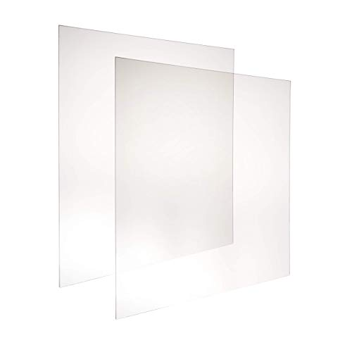 Skitement Ultra-Transparent UV Resistant Frame Grade Acrylic Plexiglass Clear Sheet Picture Frame Replacement 30x36 Inches 0.0625'(1/16') Pack of 2 Pcs