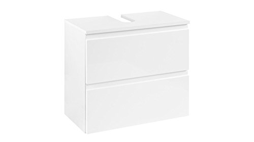 Waschbeckenunterschrank Farbe Griffe: Silber