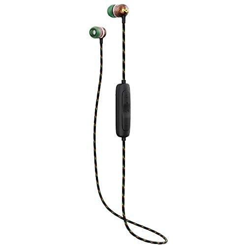 House of Marley Smile Jamaica Trådlösa 2 in-ear hörlurar – brusisolerande Bluetooth-hörlurar, 9 timmars speltid, med snabbladdning, IPX-4 vattentät, mikrofon, FSC-certifierat trä – koppar