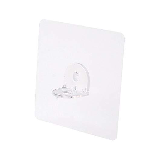 BWCGA 10 unids Soporte de Soporte Adhesivo Adhesivo Clavijas de plástico Armario Estante Soporte de Pinzas colgadoras de Pared para Cocina Accesorios de baño