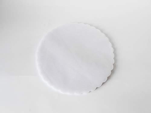 FORMOSO Set 100 PZ Tulle VELI Fiore TONDI D 24 BOMBONIERA BOMBONIERE Colore Bianco Art C0107T