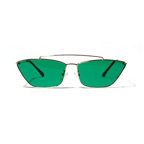 Gafas De Sol Mujeres Retro Clásico Transparente Verde Pequeño Gato Gafas De Sol Gafas De Sol Hombres Gafas De Sol Mujeres Marco De Metal Vintage Eyewear Uv400-6