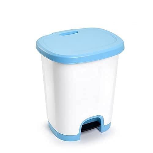 CABLEPELADO Cubo basura plastico apertura pedal 27 Litros (Azul)