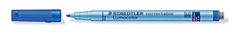 Staedtler 305 M-3 Folienstift Lumocolor correctable, blau, 1,0 mm