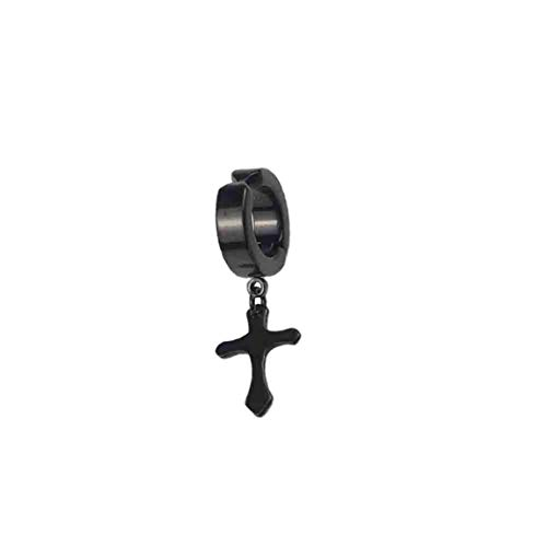 abbybubble Diseño Cruzado de Moda Vintage Ganchos para la Oreja de Metal Duradero Perno Prisionero para la Oreja Pendiente de Clip no perforante Pendiente Falso