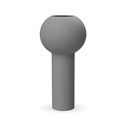 Cooee Design Pillar Vase, Keramik, Grau, 17 cm