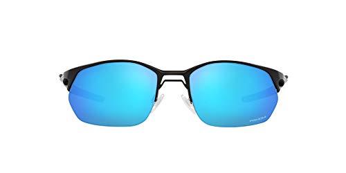 OO4145 Wire Tap 2.0 Sunglasses, Satin Black/Prizm Sapphire, 60mm