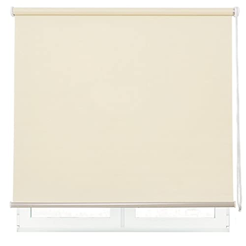 DALINA Estor Enrollable para Ventana Translúcido Liso de Poliéster (Beige, 180x180cm)
