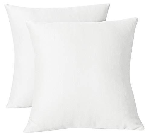 FARFALLAROSSA Copricuscini Fodere per Cuscini Quadrate, Impermeabile e Antimacchia, Decorazione per Divano Casa, 40x40 cm Bianco Pacco da 2
