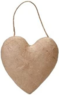 Darice Bulk Buy Core'dinations Paper Mache Puffy Heart 5.5 inch (6-Pack)