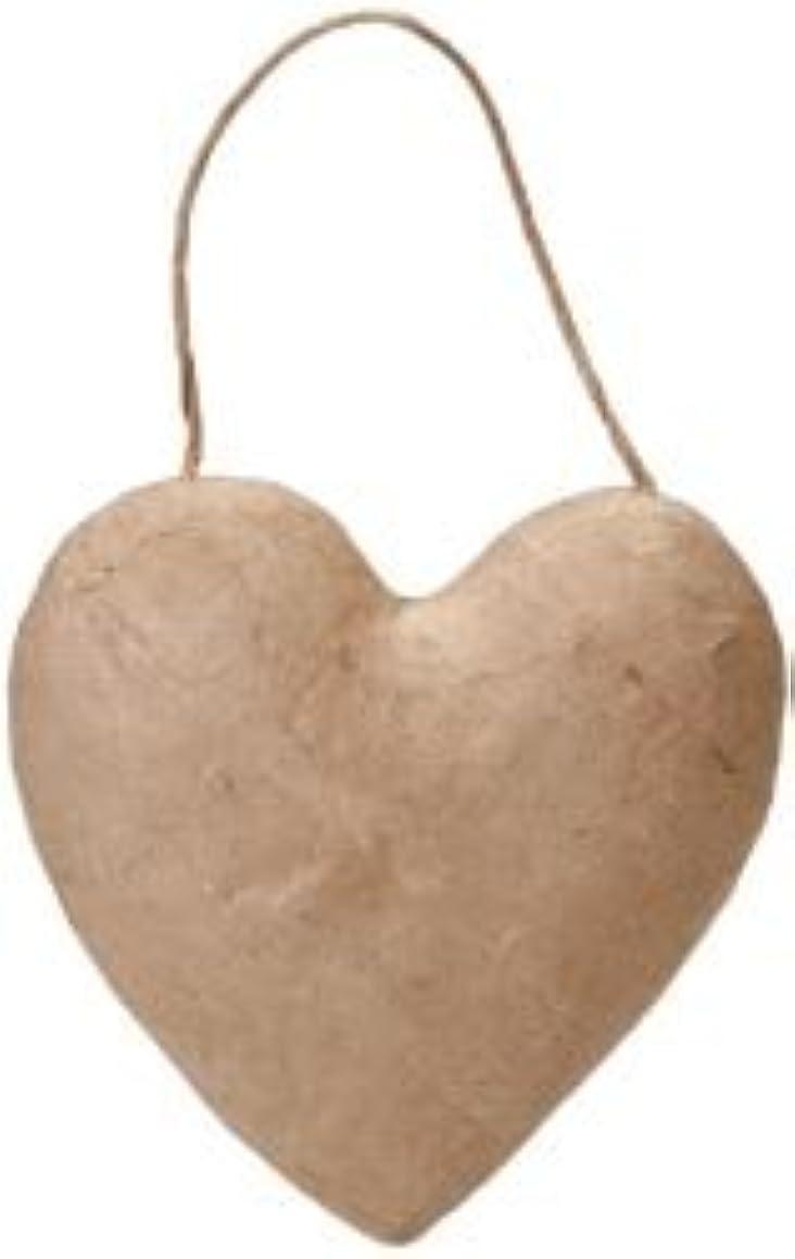 Bulk Buy: Corein.dinations Paper Mache Puffy Heart 5.5in. (6-Pack)
