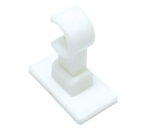 GARDINIA Träger für Caféhausstangen California Ø 12 mm, 2 Stück, Länge: 2,7 cm, Kunststoff, Weiß