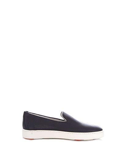 Santoni Luxury Fashion Homme MBCN20439BA6CFOSU55 Bleu Cuir Chaussures De Skate | Saison Outlet