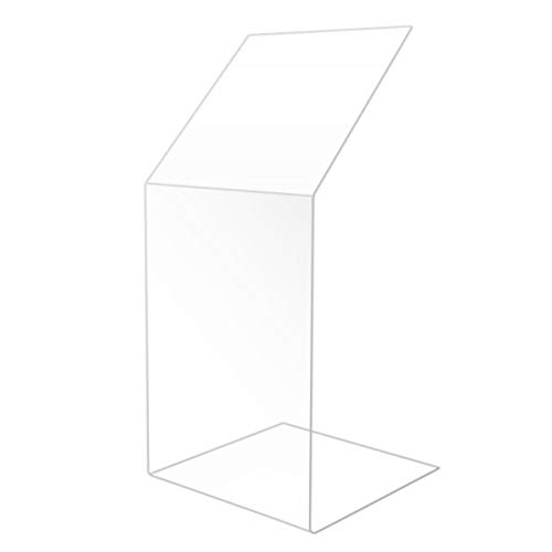 Clear Acrylic Sneeze Safety Guard and Splash Shield, Store Countertop, Restaurant, Reception desk (12 Inch)