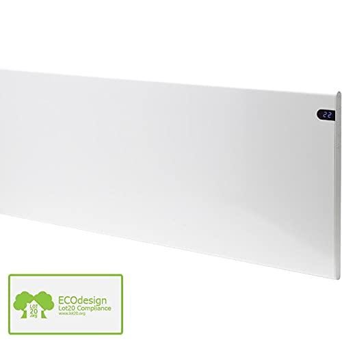 ADAX Neo Calefactor de pared eléctrico de diseño, ahorra espacio, 200 mm 1000W Weiß