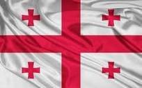 5ft x 3ft Georgien Georgian Europa Material Flagge