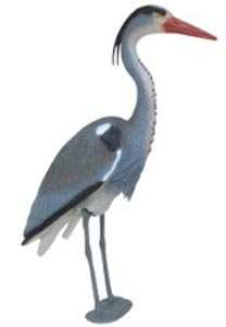 Blue Heron Decoy with Legs & Stake 30'' (76cm) Tall, Adult Blue Heron Decoy for Yards & Water Garden Ponds