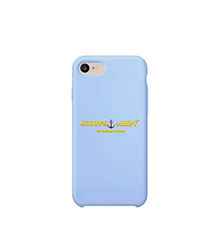 GlamourLab Stranger Things Scoops Ice Cream Ad Logo_R6247 Protective Case Cover Hard Plastic Compatible with For iPhone 7 Funny Gift Christmas Birthday Novelty
