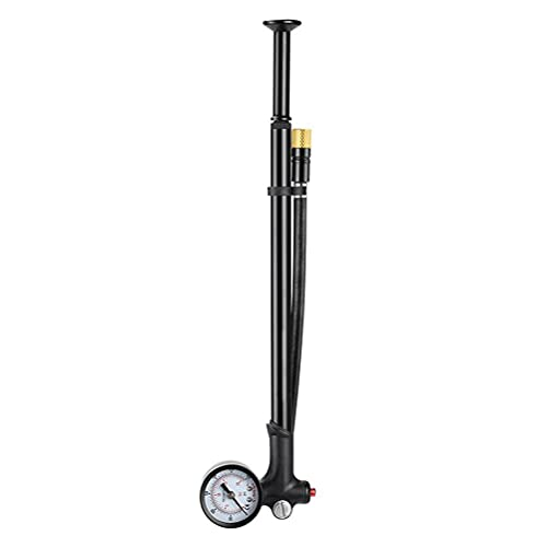 Lseqow Mini Bomba de Bicicleta, Bomba de Aire portátil con manómetro, para Bicicleta de montaña y de Carreras, para válvula Presta y Schrader, para Bicicletas de montaña, Bicicleta de Carreras