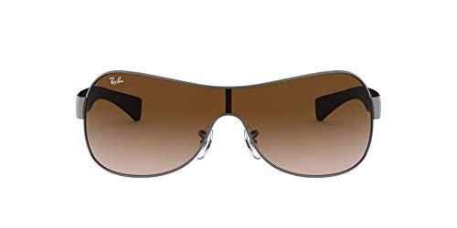 Ray-Ban RB3471 Shield Sunglasses, Matte Gunmetal/Brown Gradient, 32 mm