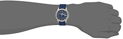 Fashion Shopping Seiko Men's SNK807 Seiko 5 Automatic Stainless Steel Watch with Blue Canvas