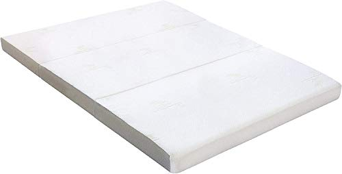 Milliard 6-Inch (15cm) Thick Tri Folding Mattress/Tri Fold Guest Mattress with Ultra Soft Removable Cover with Non-Slip Bottom - Double (190cm x 135cm)