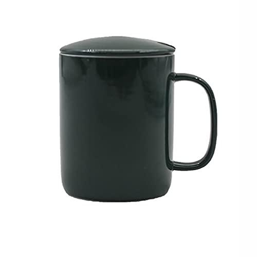 Taza de cerámica con tapa para oficina de negocios, taza de café para el hogar, taza de agua creativa para boda, taza de regalo (rojo), verde