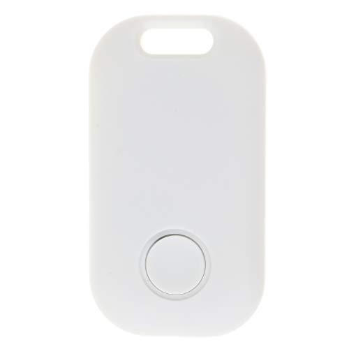 MagiDeal Alarma Perdida Anti Anti Inalámbrica Elegante del Perseguidor de Bluetooth, Localizador de GPS del Buscador de La Llave del Animal Doméstico - Blanco