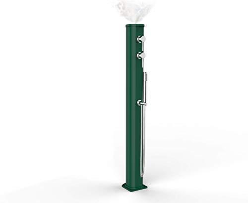 Arkema Design JG150 Douche solaire d'extérieur avec mitigeur et douchette, Vert