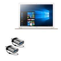 Huawei MateBook E Cable, BoxWave [USB tipo-C PortChanger (pacote com 2)] Chaveiro USB tipo-C OTG USB para Huawei MateBook E - Cinza ardósia