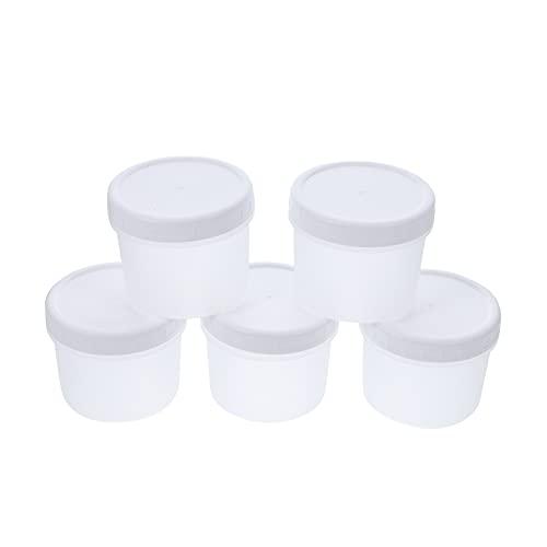 OSALADI 5 Unidades de Tazas de Plástico de 400Ml con Tapas Tazas Transparentes Tazas de Aperitivos Desechables Tazas de Yogur Tazas de Parfait Pudín Tazas de Postre Recipientes con Tapas