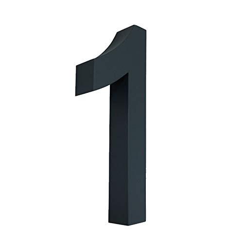 1 Hausnummer 3D anthrazit RAL7016 Edelstahl V2A rostfrei wetterfest Höhe 20cm inkl. Montagematerial erhältlich 0 1 2 3 4 5 6 7 8 9 a b c d