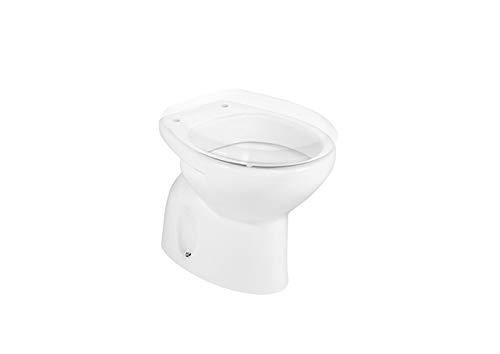 Roca A344398000 Colección Victoria - Taza salida suelo, asiento no incluido, para cisterna alta, fluxor o cisterna empotrada, color blanco
